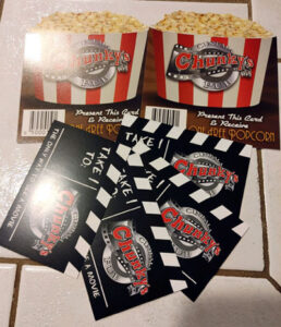Win Four Chunky's Tickets and Two Free Popcorns