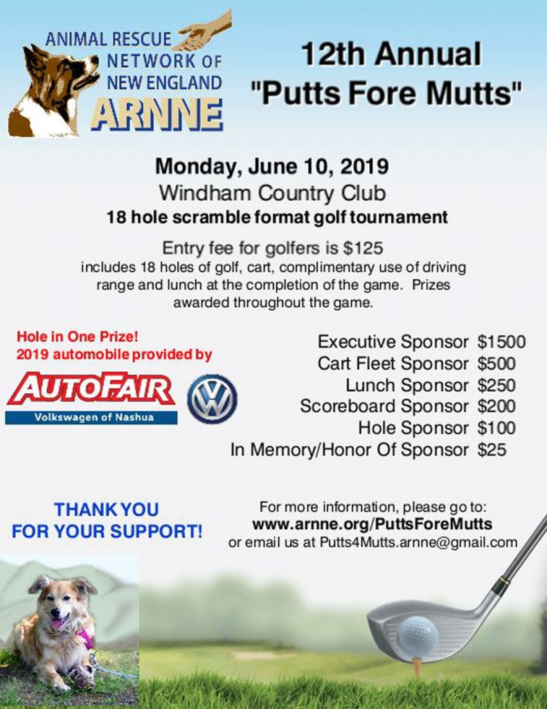 Putts Fore Mutts 2019 ARNNE New England